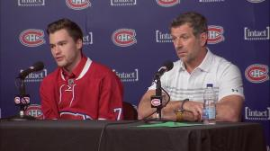 Drouin calls dad, cancels golf game after finding out about trade to Montreal